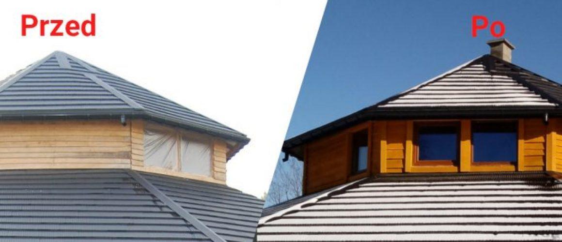 Przed i po wstawieniu okien